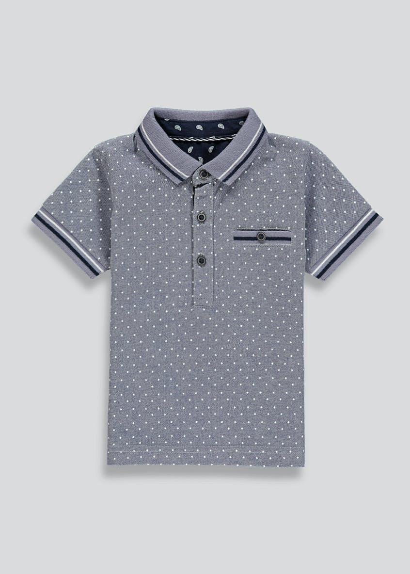 Boys Polka Dot Polo Shirt (9mths-6yrs)