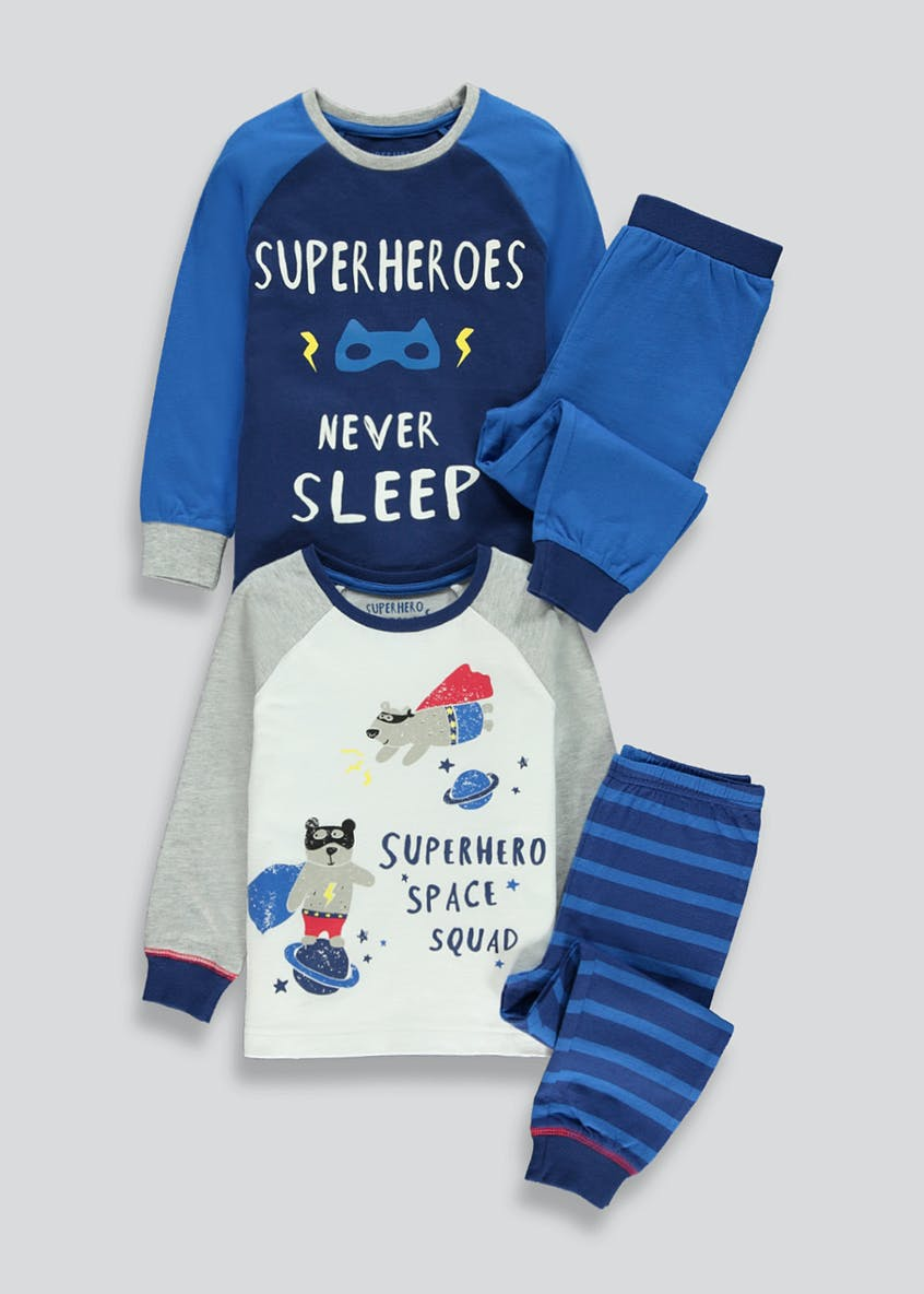Kids 2 Pack Superhero Pyjamas (9mths-5yrs)