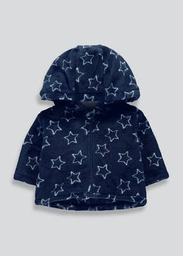 Unisex Navy Star Fleece Jacket (Newborn-18mths)