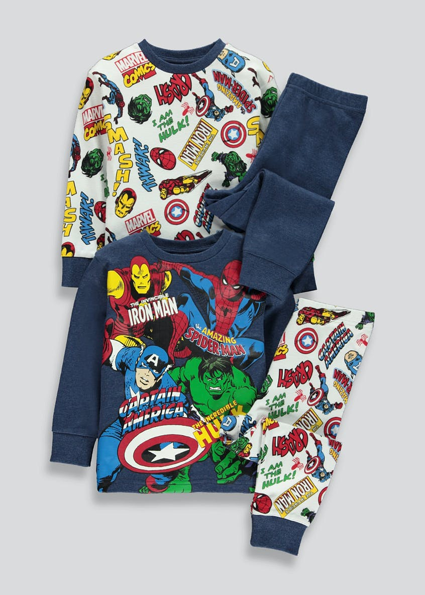 Kids 2 Pack Marvel Comics Pyjamas (2-9yrs)