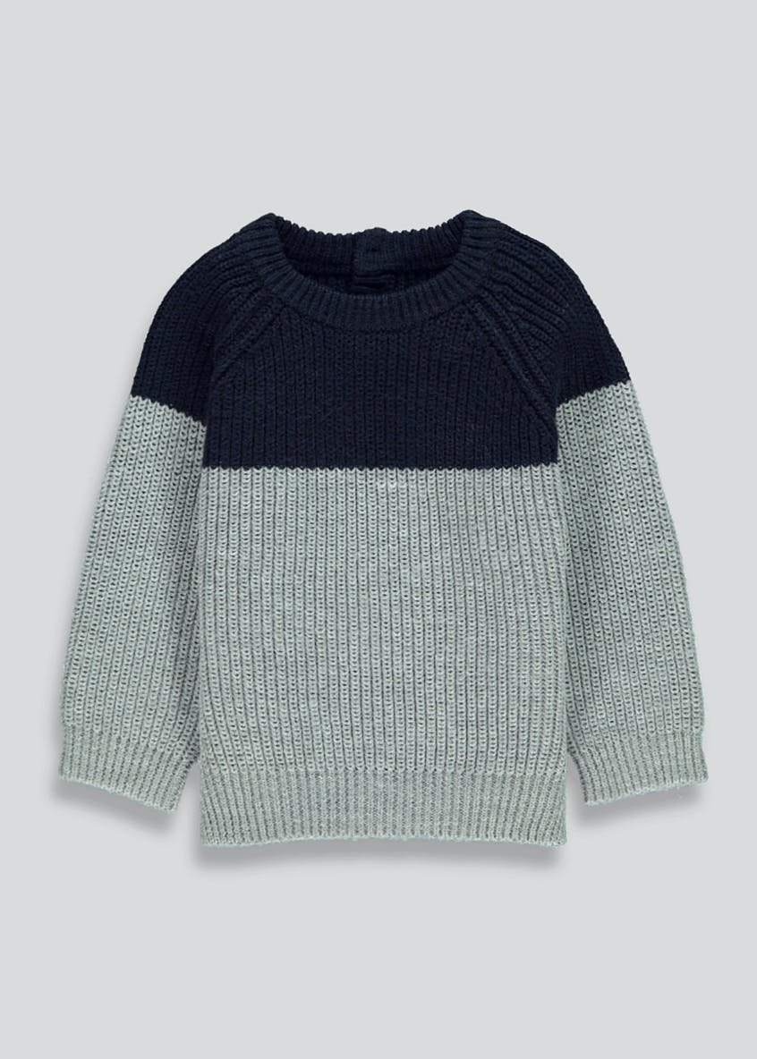 Boys Twist Knit Crew Neck Jumper (9mths-6yrs)
