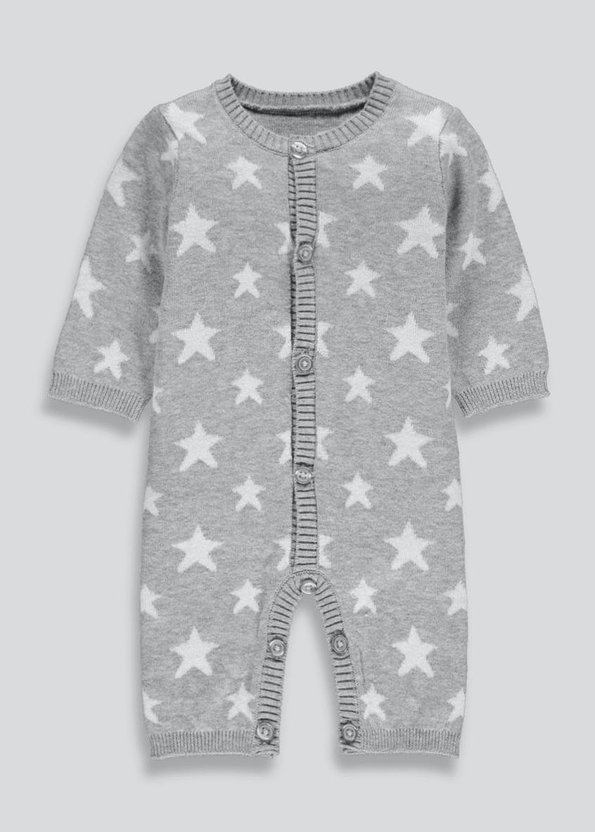 Unisex Star Knitted Romper (Tiny Baby-18mths)