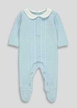 Boys Traditional Knitted Romper (Tiny Baby-18mths)