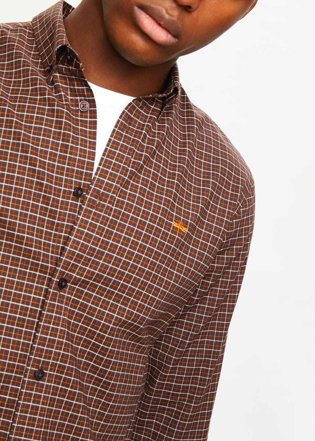 Long Sleeve Check Oxford Shirt