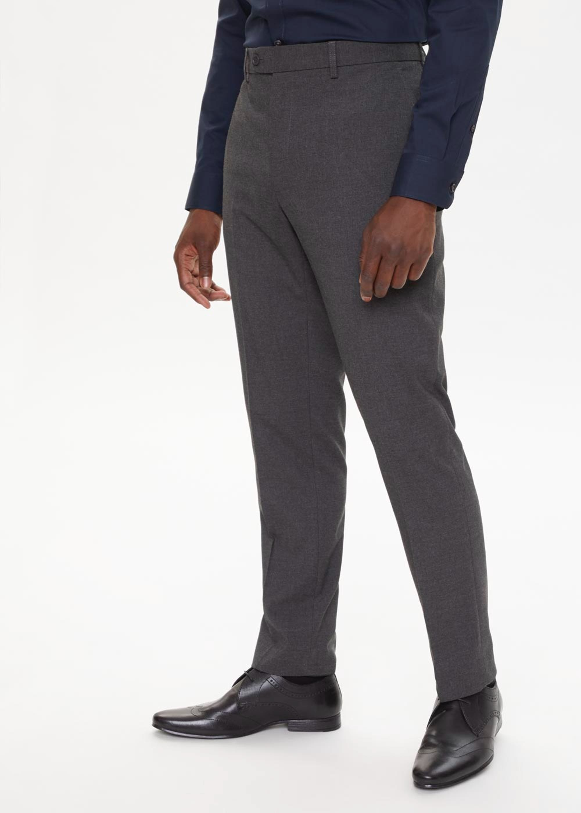 Taylor & Wright Slim Stretch Formal Trousers Charcoal ncnR03