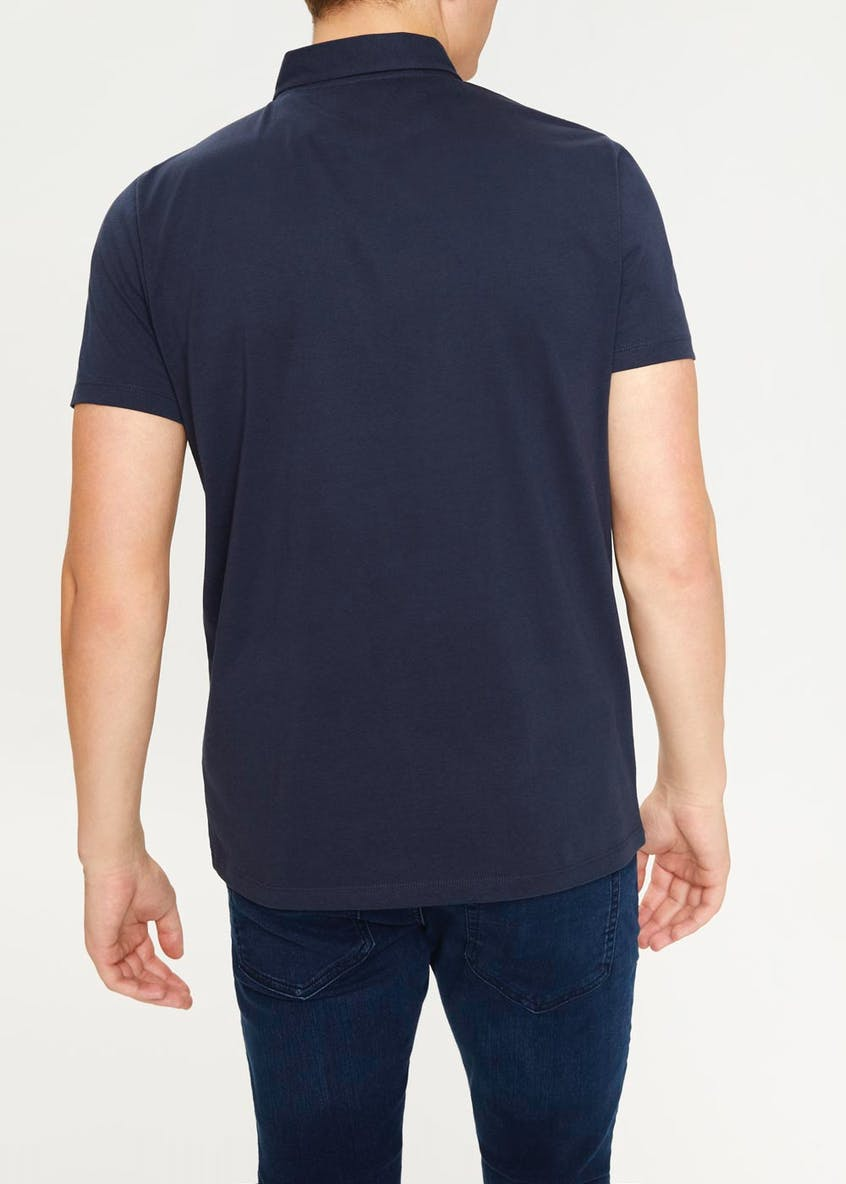 Short Sleeve Textured Polo Shirt