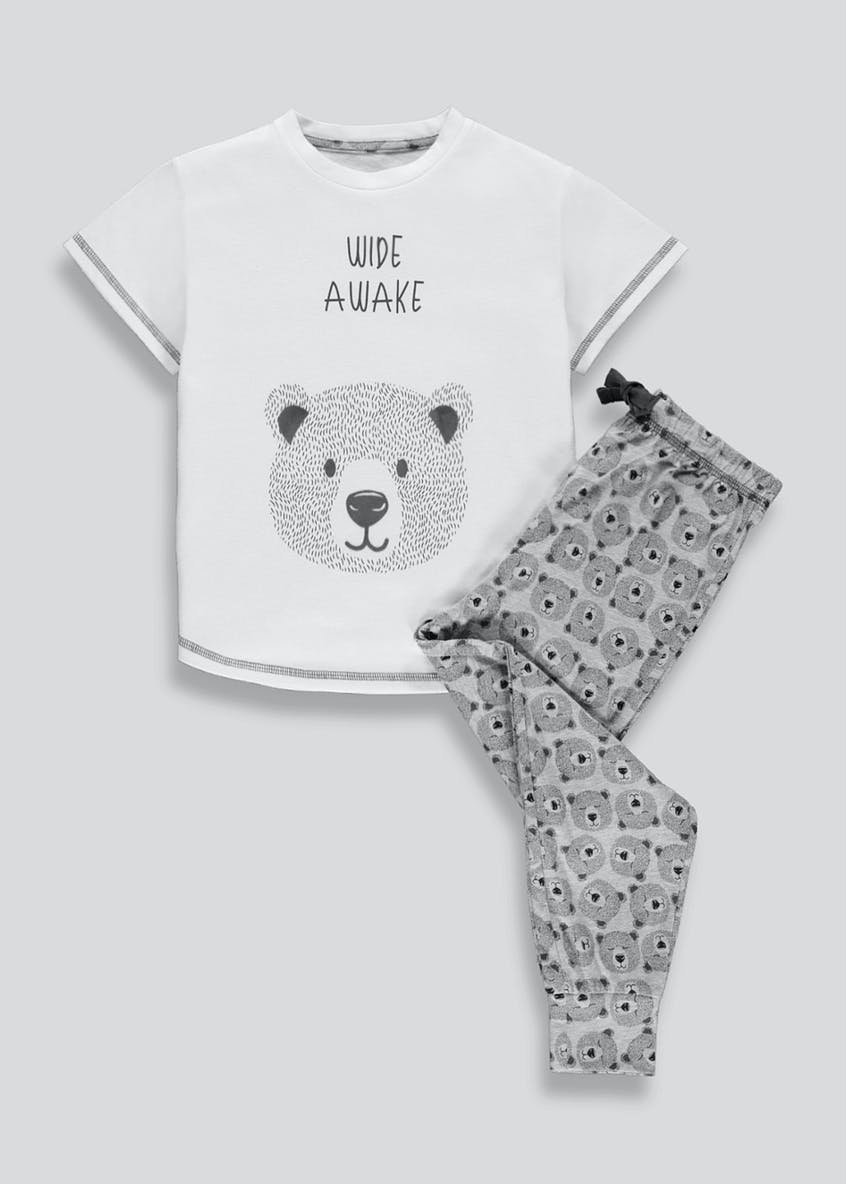Girls Bear Print Pyjama Set (4-13yrs)