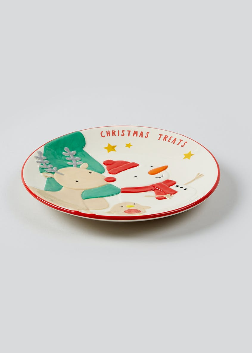 Kids Embossed Christmas Treats Plate (20cm)