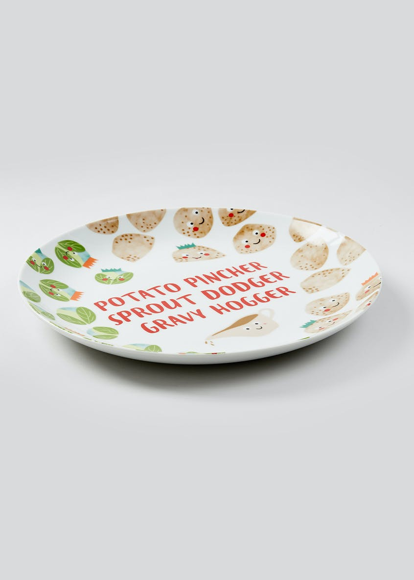 Novelty Christmas Dinner Plate (30cm)