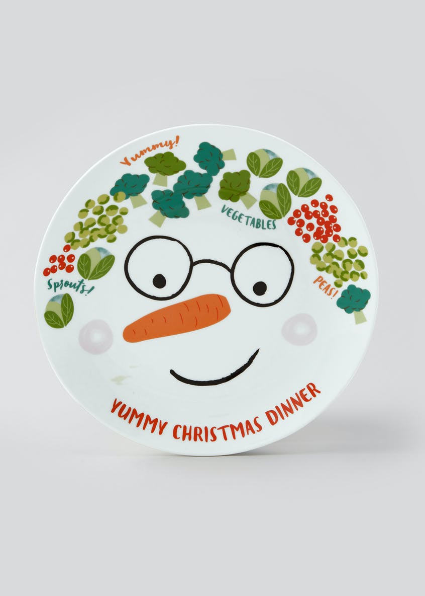Novelty Christmas Portion Plate