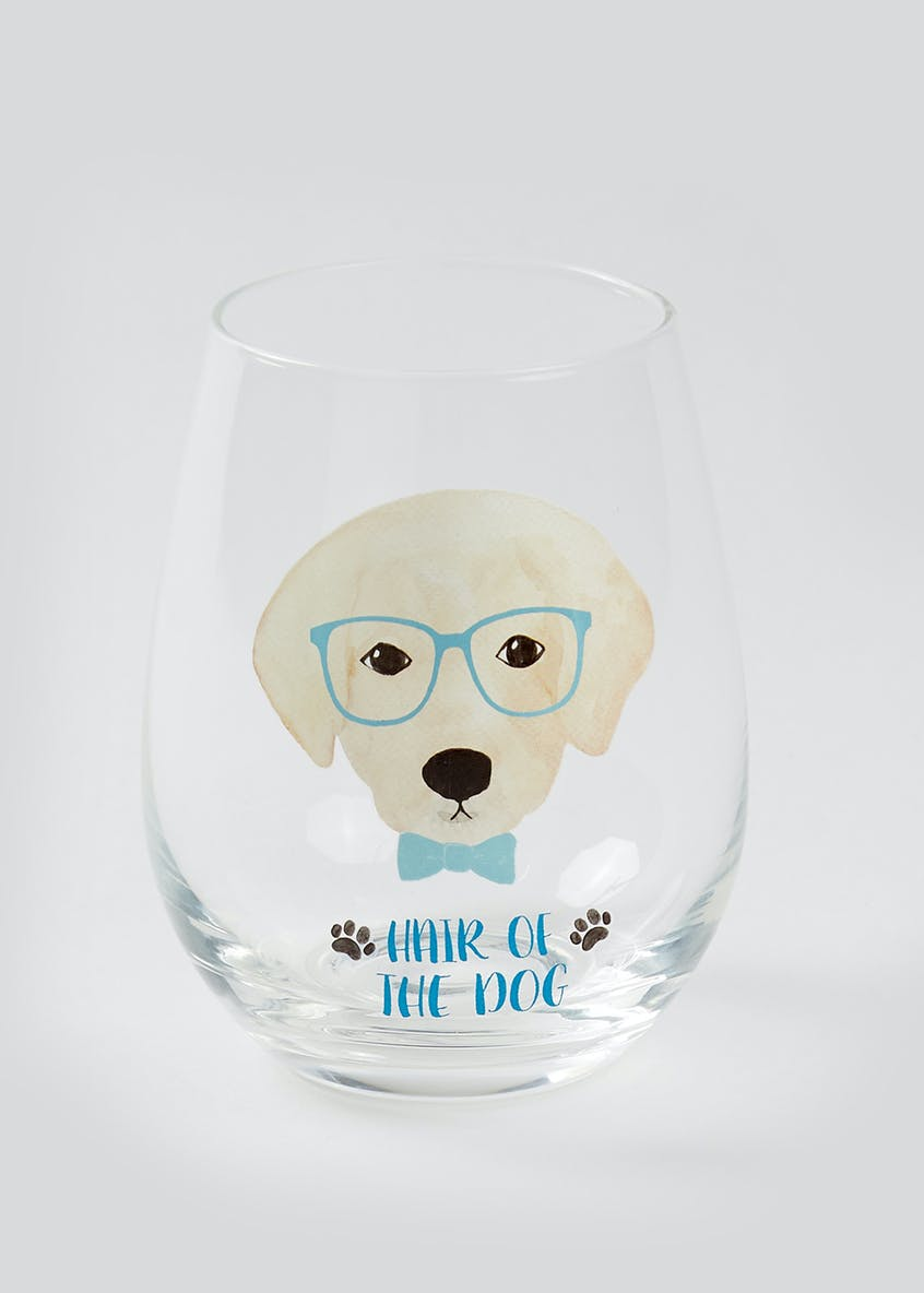 Labrador Dog Slogan Glass (12cm x 7cm)
