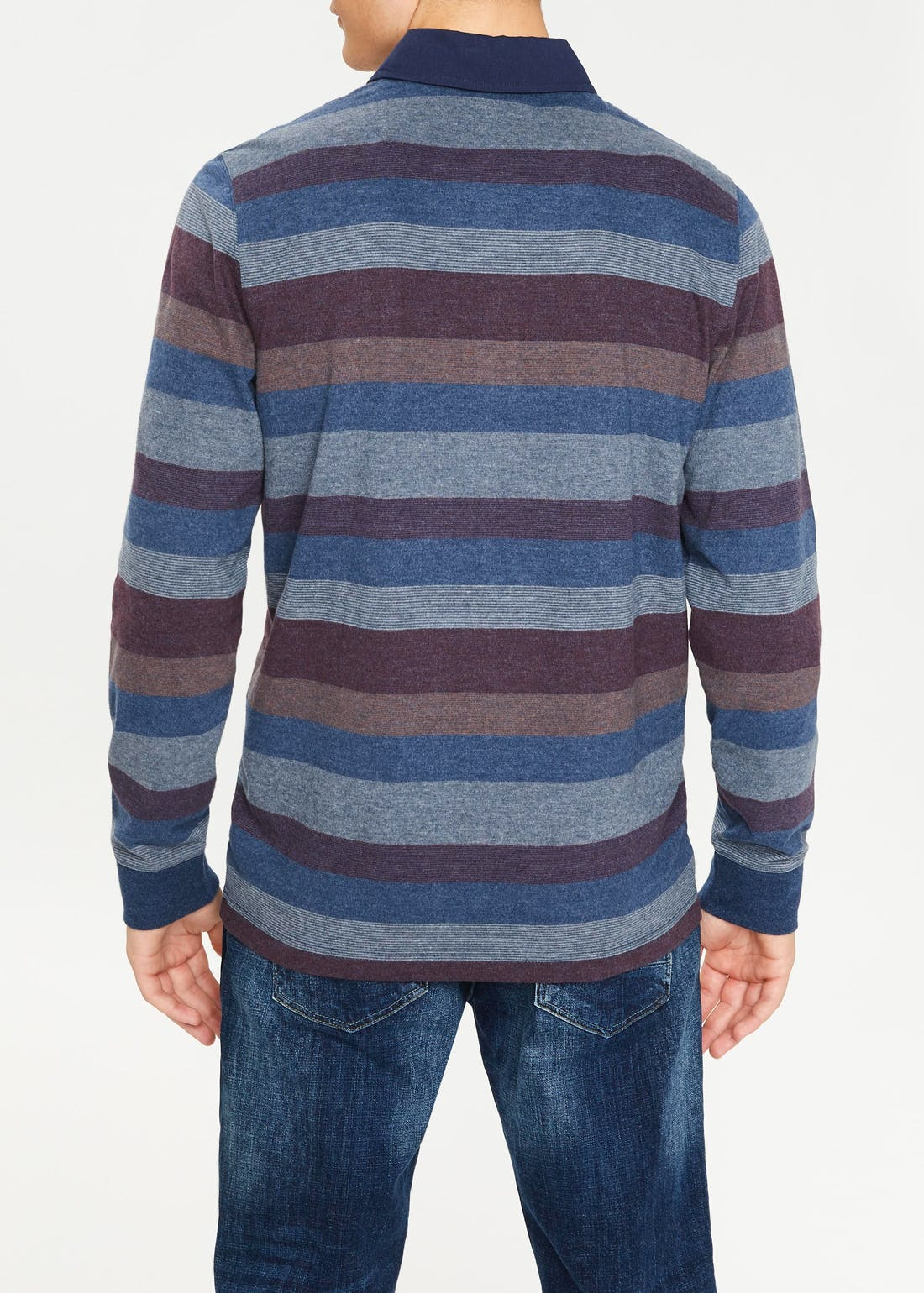Lincoln Long Sleeve Stripe Rugby Polo Shirt