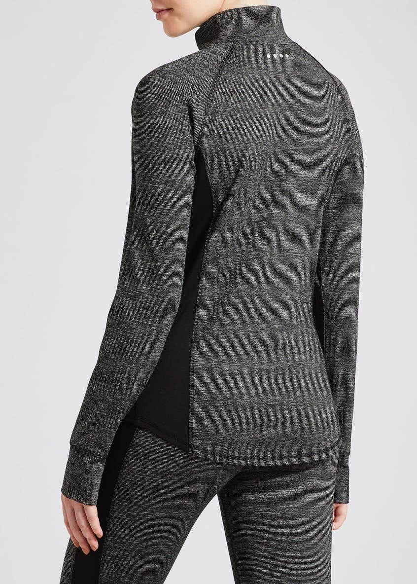 Souluxe Grey Half Zip Sports Sweatshirt