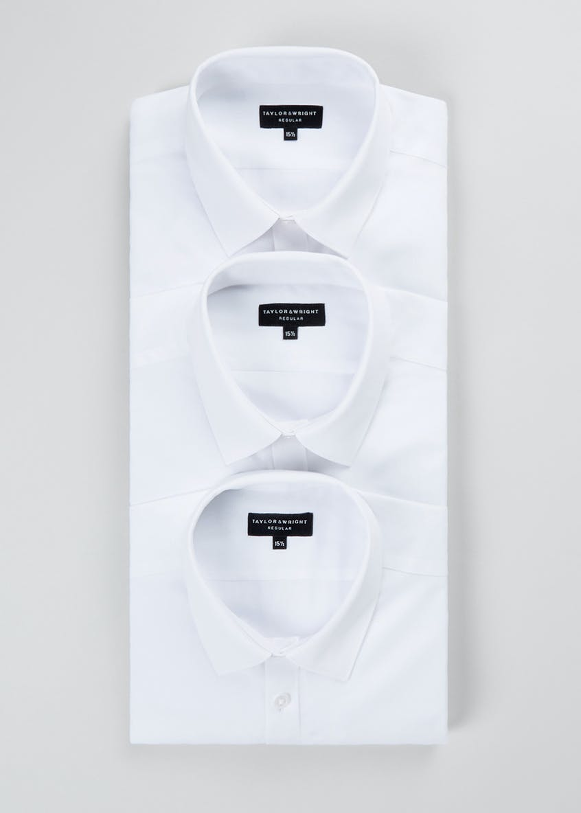 Taylor & Wright 3 Pack Regular Fit Long Sleeve Shirts