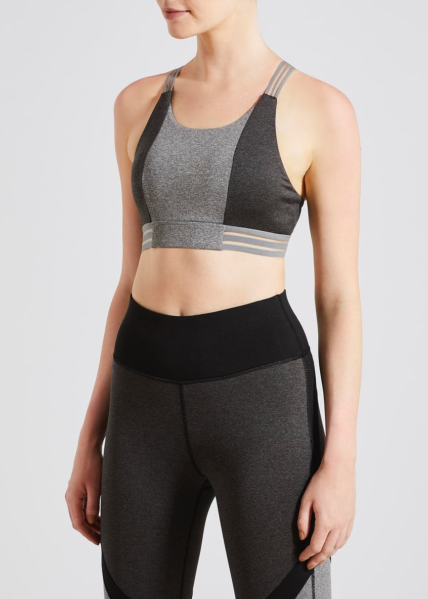 Souluxe Grey Panel Sports Bra