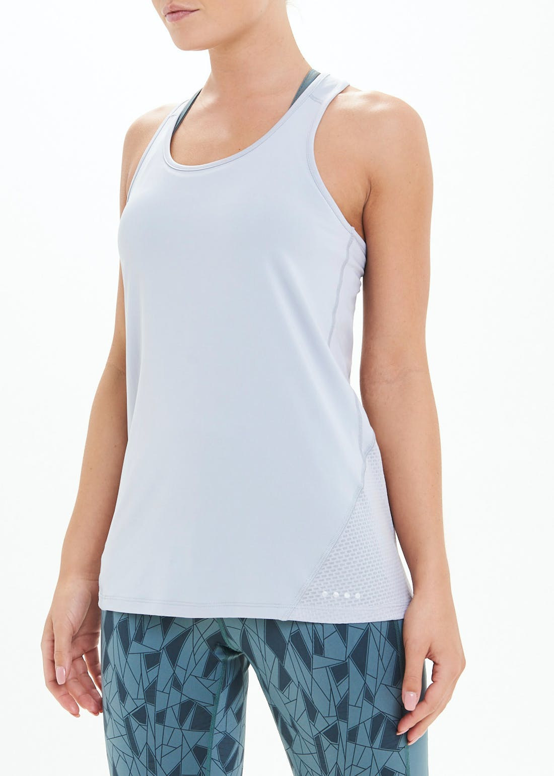 Souluxe Grey Mesh Gym Vest