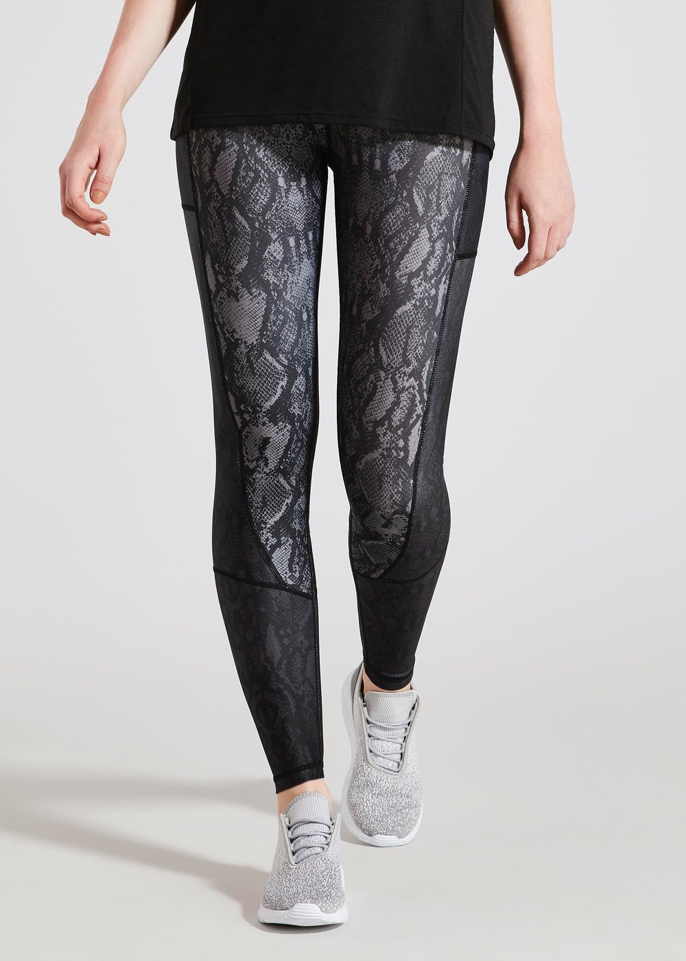 on feet at matching in colour new images of Souluxe Animal Print Sports Leggings