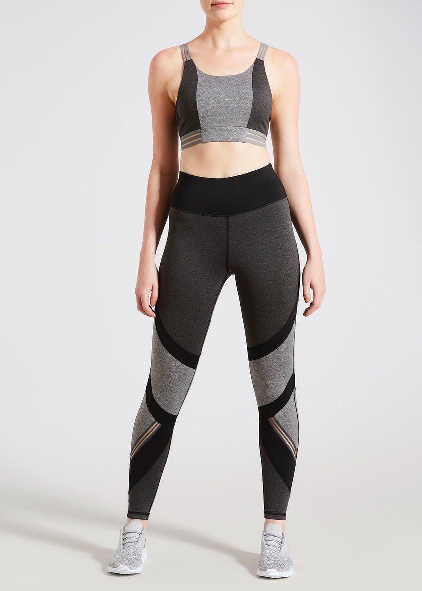 Souluxe Grey Multi Panel Gym Leggings