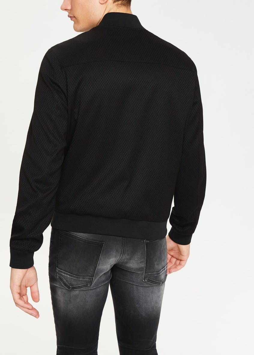 Easy Black Label Black Jacquard Bomber