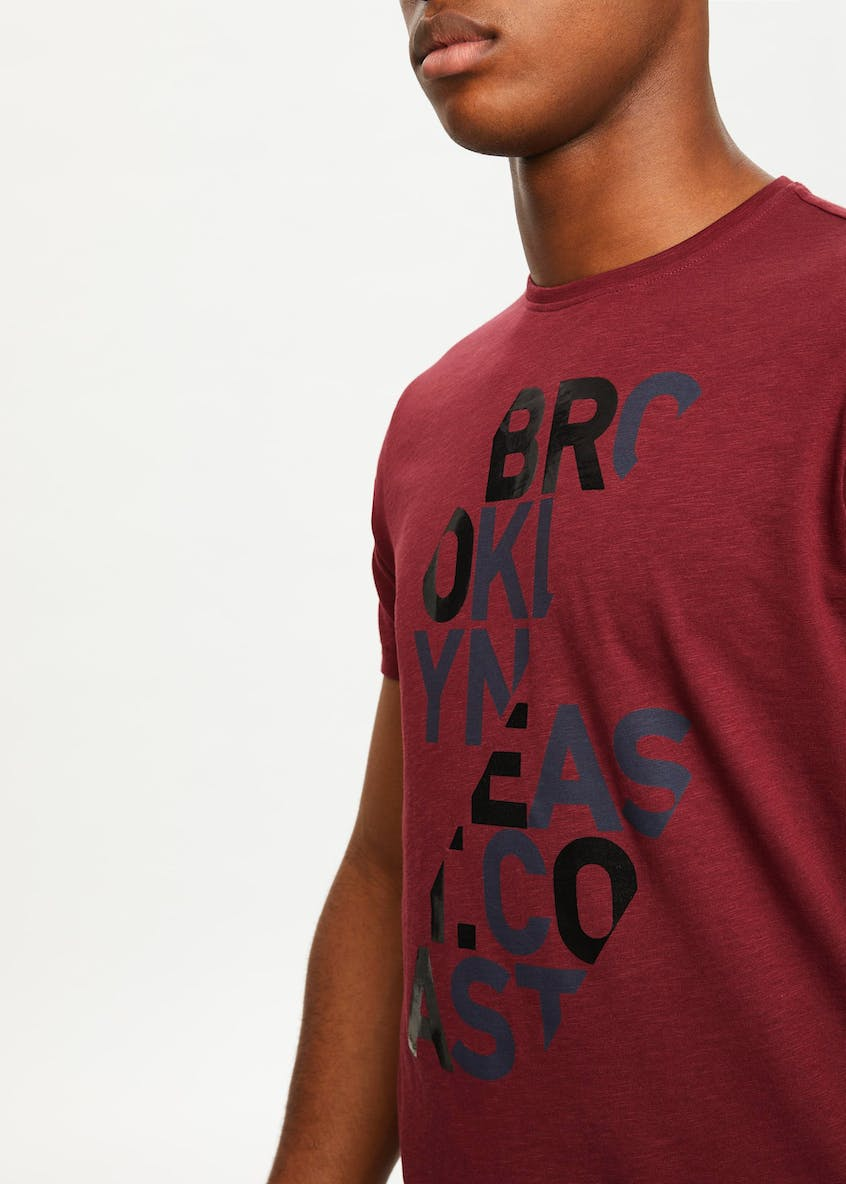 Split Slogan T-Shirt