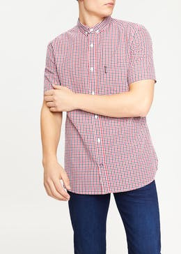 Lambretta Short Sleeve Gingham Check Shirt