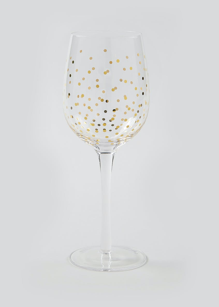 Spot Christmas Wine Glass (24cm x 7cm)