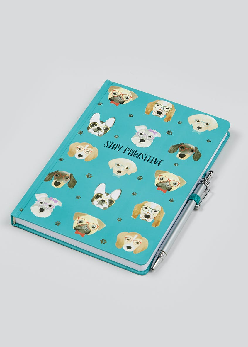 Dog Notebook And Pen Set (20.6cm x 14.3cm x 1.5cm)