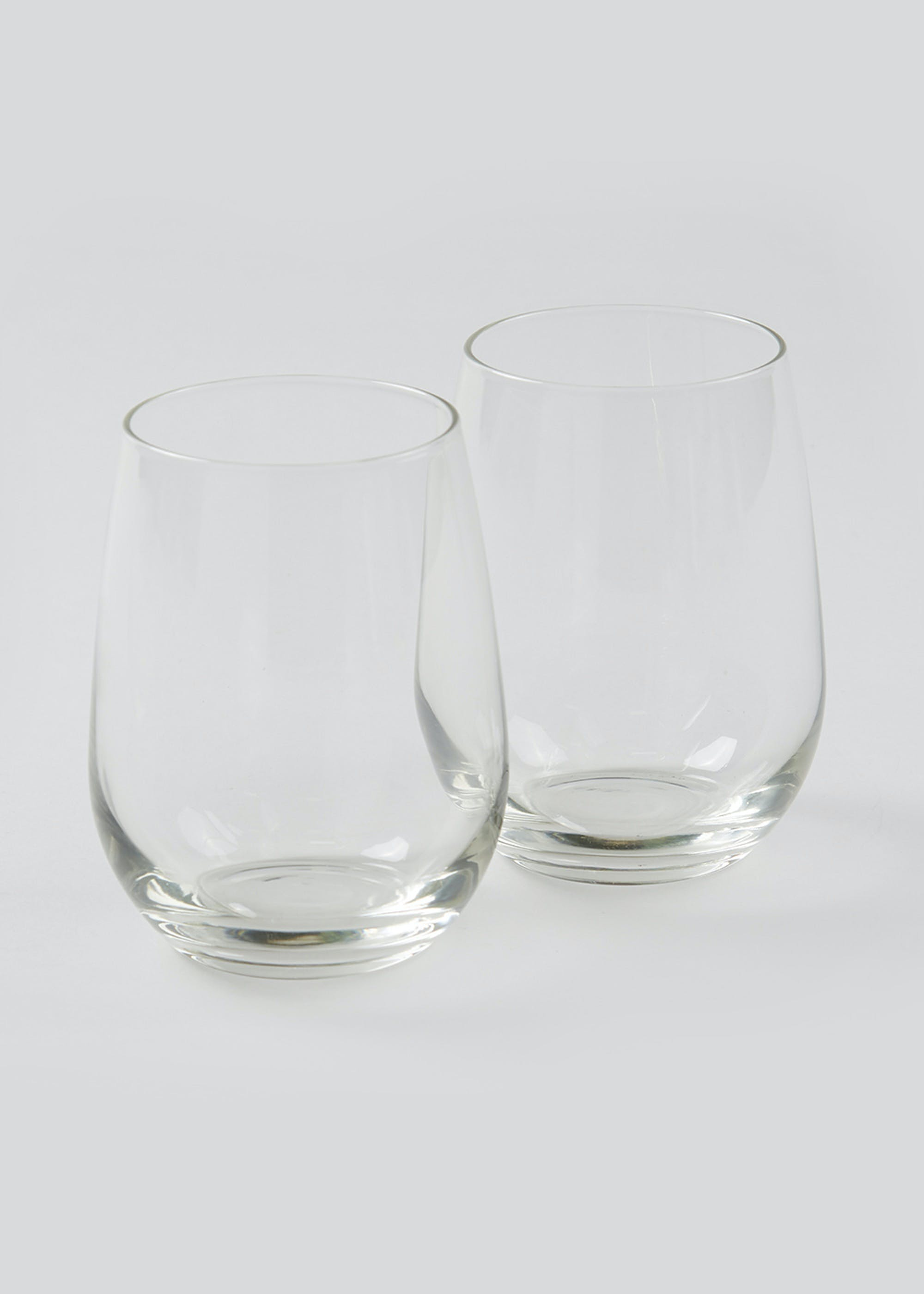 2 Pack Stemless Wine Glasses (11cm x 7cm) Clear IuLrk0