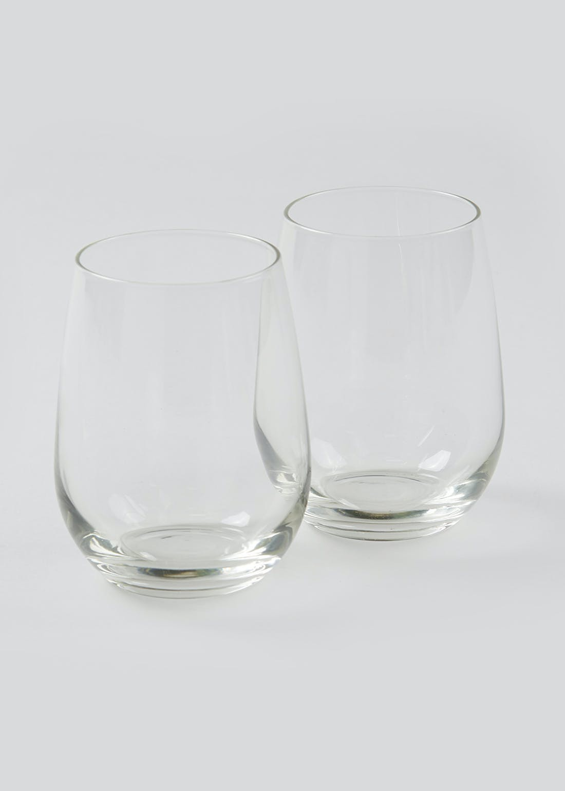 2 Pack Stemless Wine Glasses (11cm x 7cm)