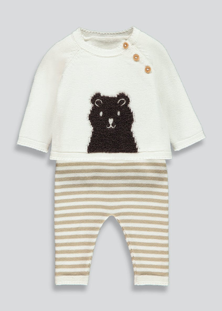 Unisex Bear Knitted Set (Tiny Baby-18mths)