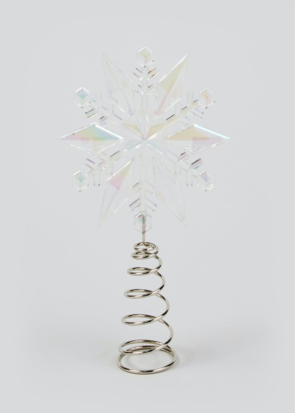 Christmas Tree Topper.Iridescent Snowflake Christmas Tree Topper 15cm X 20cm