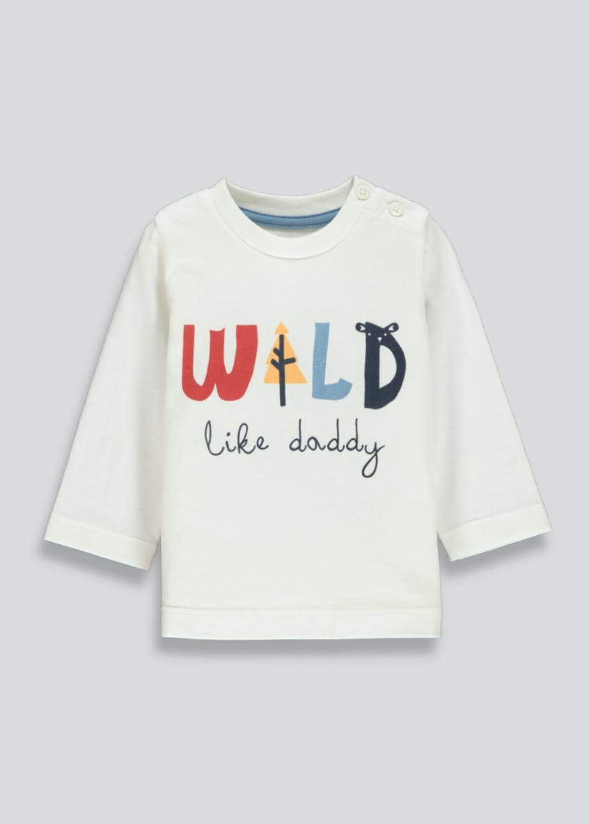 Unisex Daddy Slogan T-Shirt (Tiny Baby-18mths)