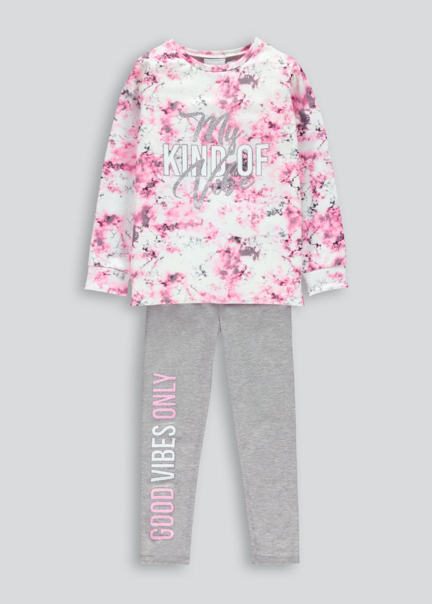 Girls Marble Sweat Set (4-13yrs)