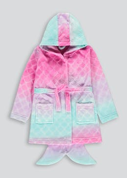 Girls Ombré Mermaid Tail Dressing Gown (6-13yrs)