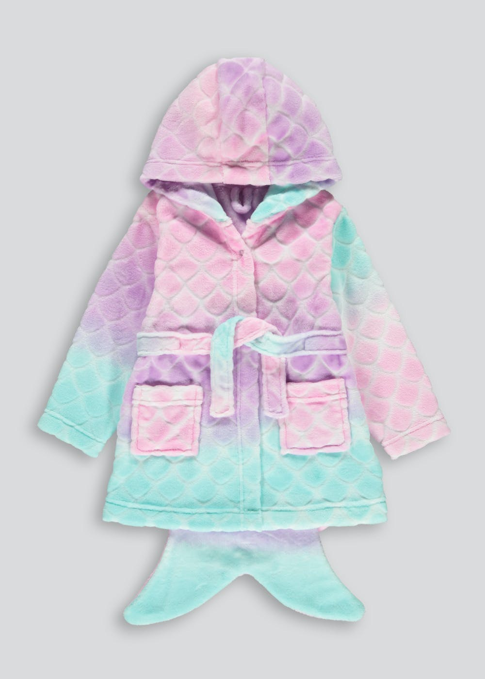 Girls Ombré Mermaid Tail Dressing Gown (18mths-5yrs) – Multi