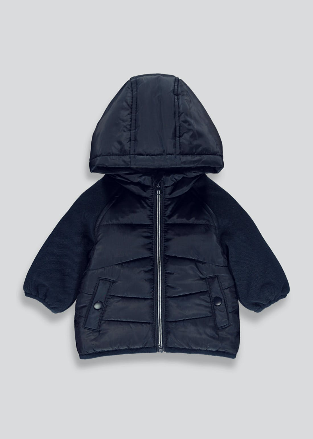 Unisex Navy Hooded Coat (Tiny Baby-18mths)