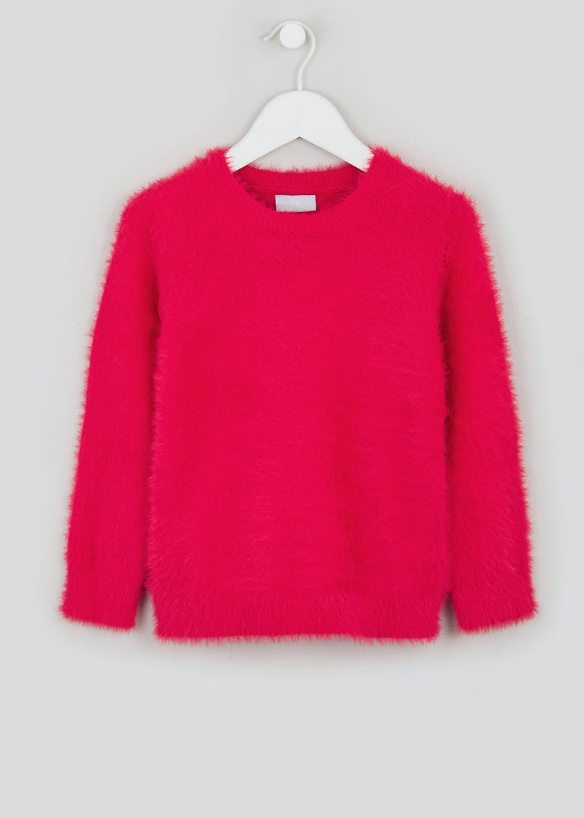 Girls Neon Fluffy Jumper (4-13yrs)