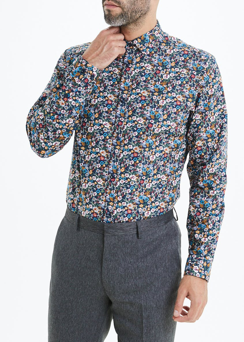 Taylor & Wright Slim Fit Floral Long Sleeve Shirt