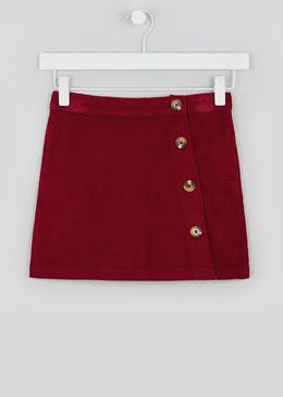Girls Button Side Cord Skirt (4-13yrs)