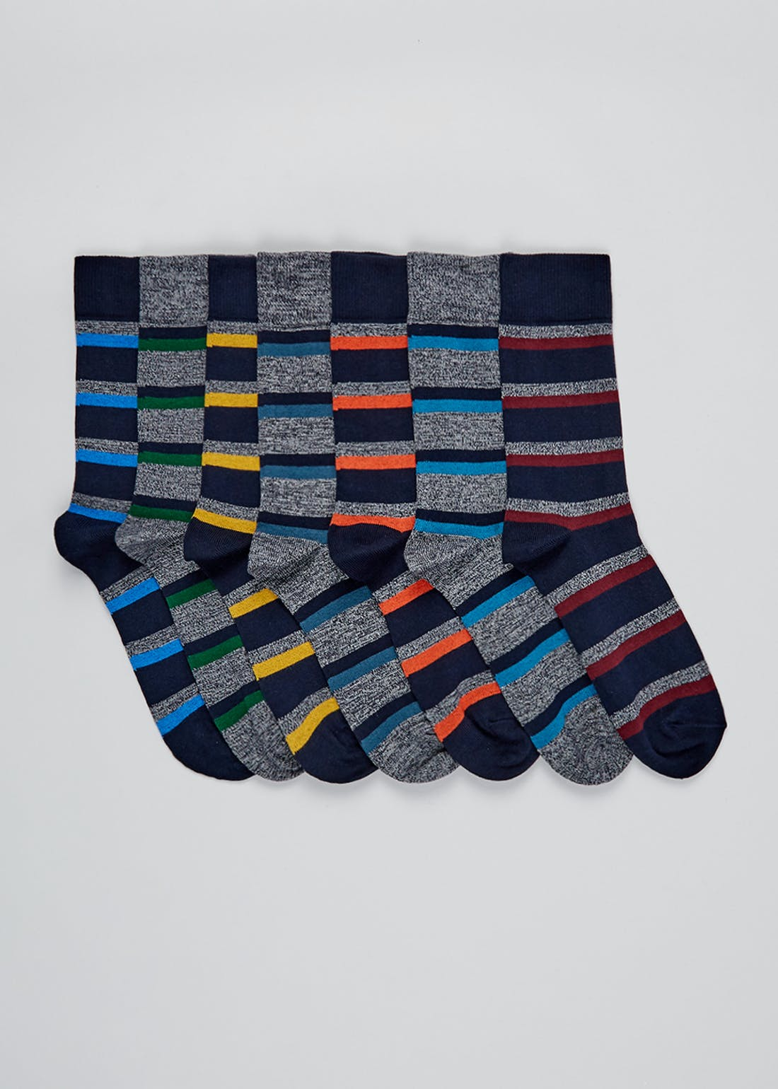 7 Pack Stripe Socks