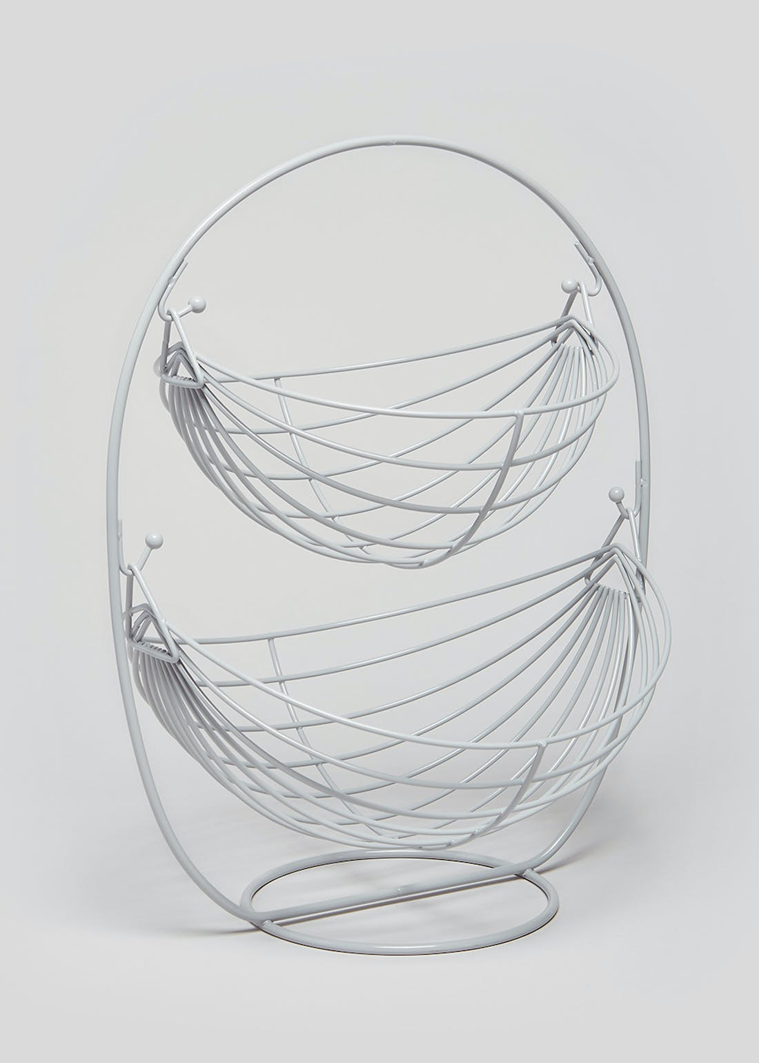 Wire Double Layer Fruit Basket (34cm x 22cm)