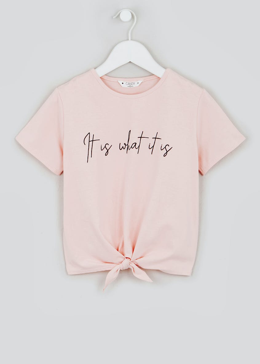 Girls Candy Couture Slogan T-Shirt (9-16yrs)