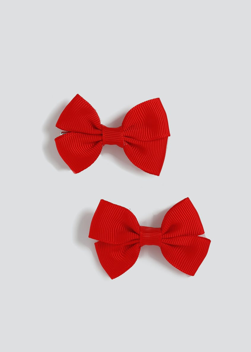 Girls Back to School Bow Hair Clips