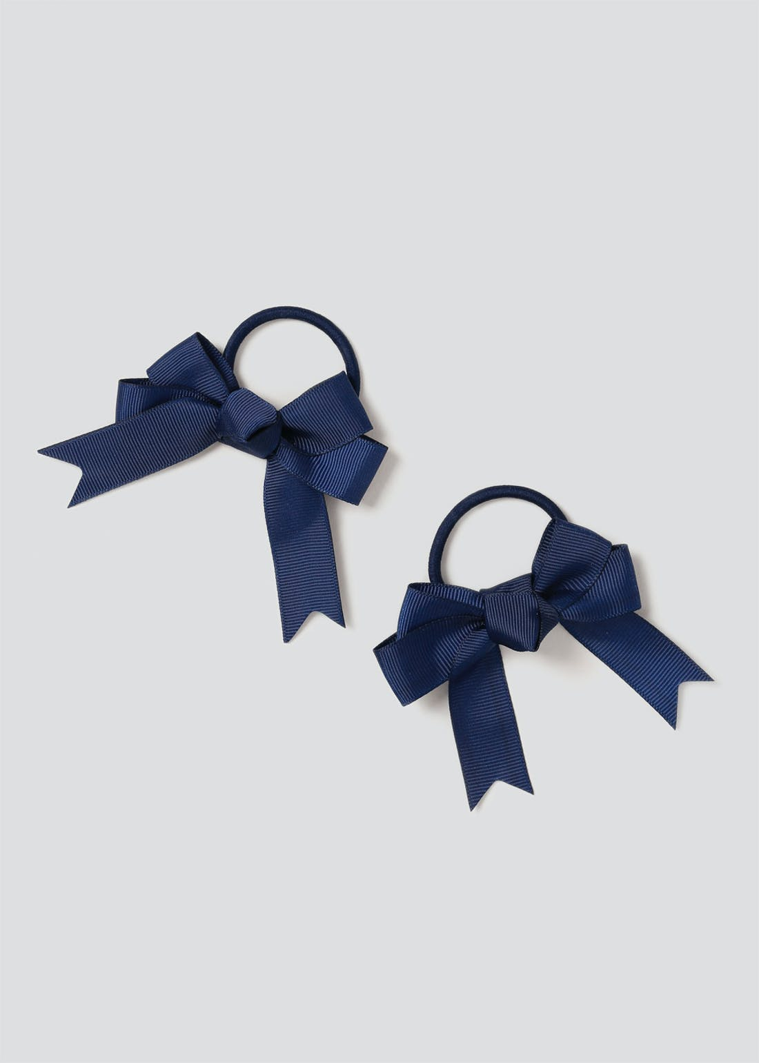Girls Back to School 2 Pack Navy Bow Ponios