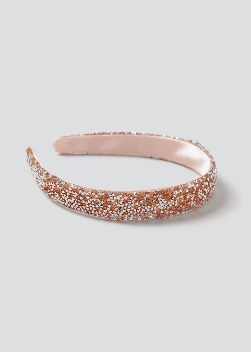 Girls Pink Crystal Aliceband