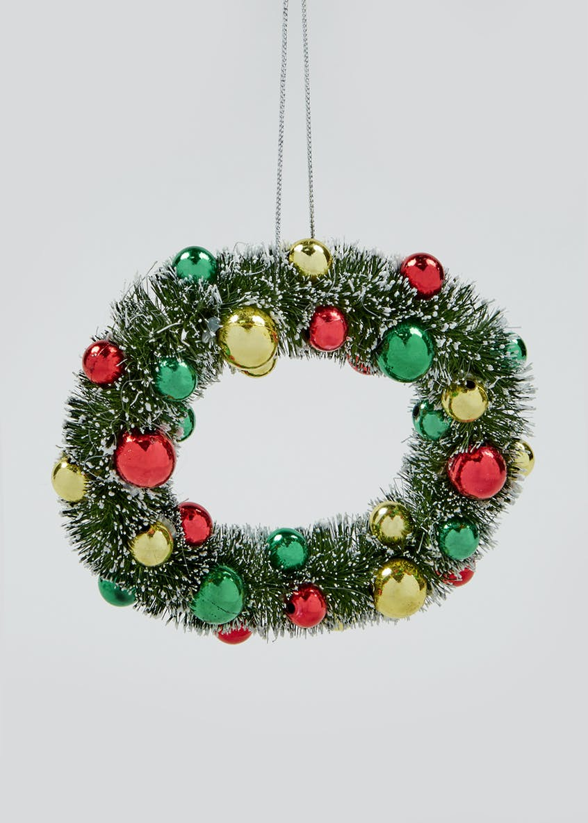 Traditional Mini Christmas Wreath (12cm x 3cm x 12cm)