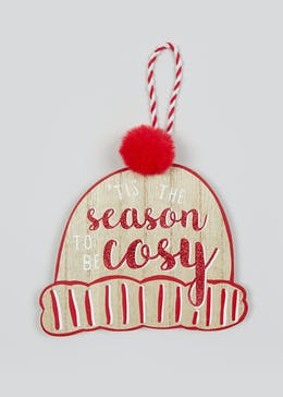 Wooden Cosy Christmas Sign (15cm x 12cm)