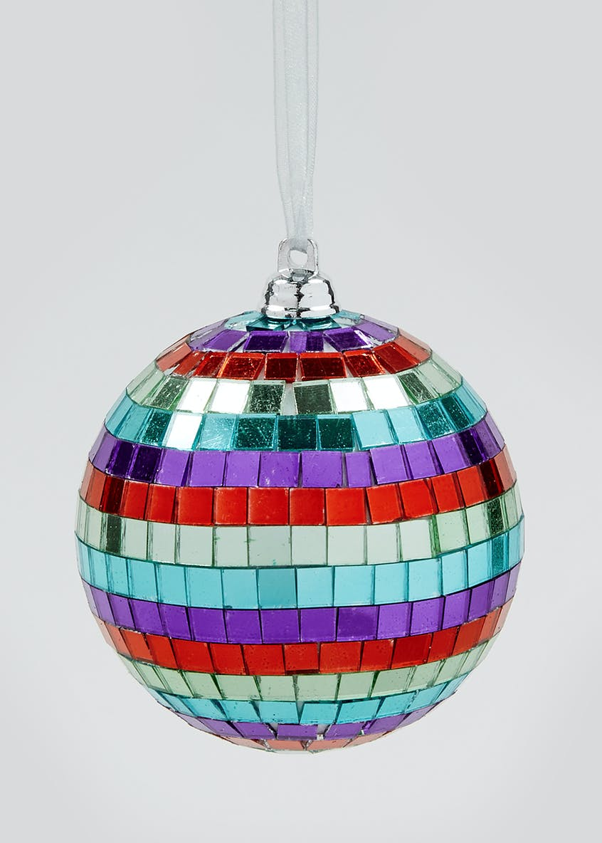 Mirror Finish Christmas Tree Bauble (8cm)