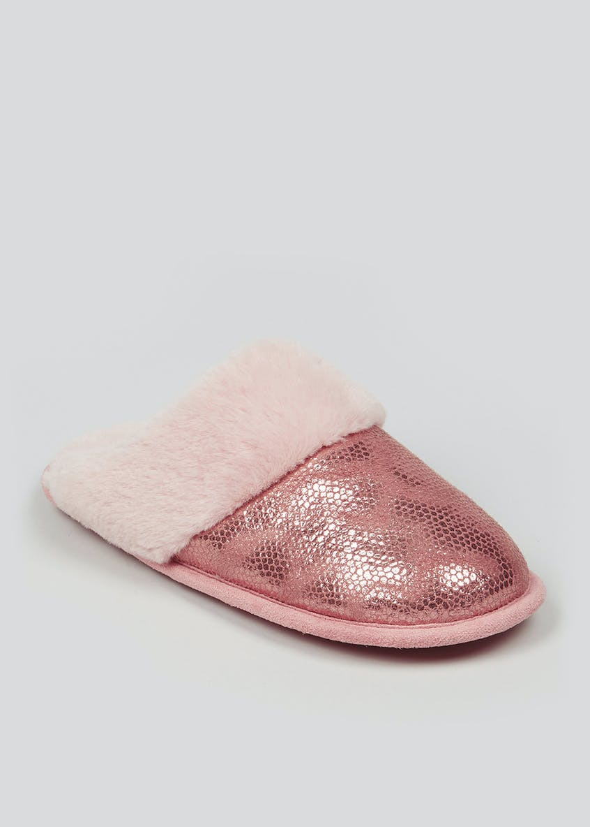 Metallic Mule Slipper