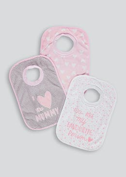 3 Pack Slogan Bibs (One Size)